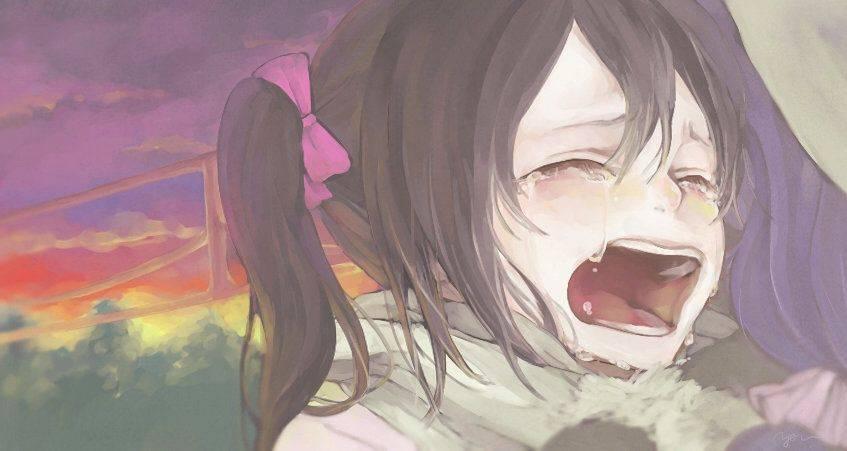 【もらい泣きしそう】号泣してる女の子の二次画像【14】