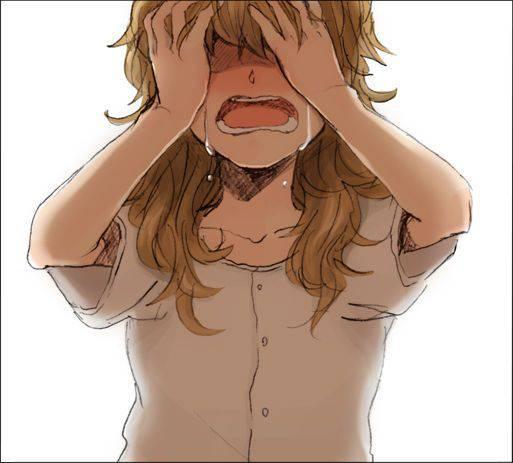 【もらい泣きしそう】号泣してる女の子の二次画像【16】