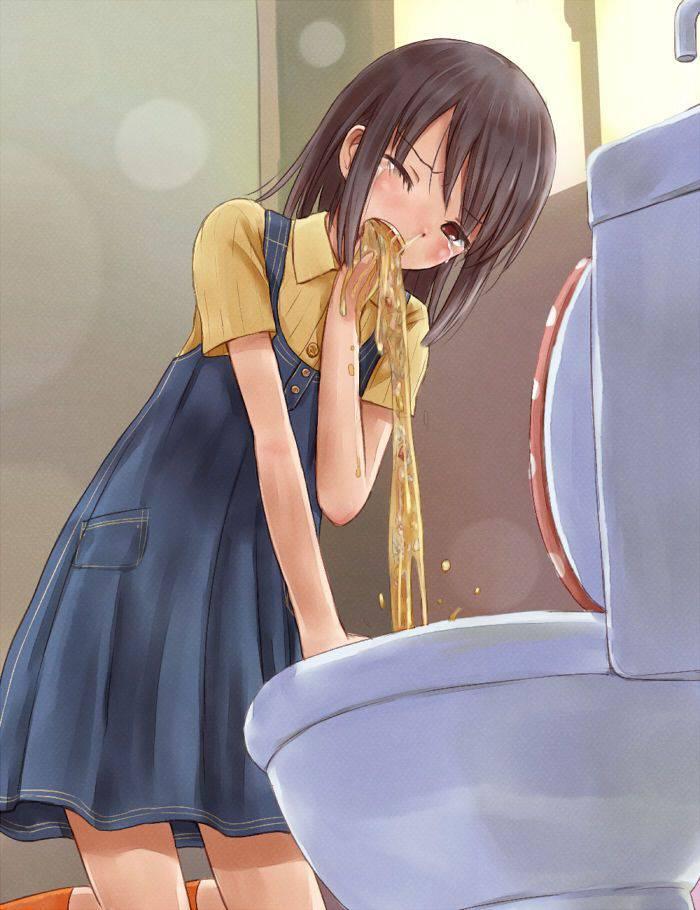 【もらいゲロしそう】嘔吐してる女の子の二次画像