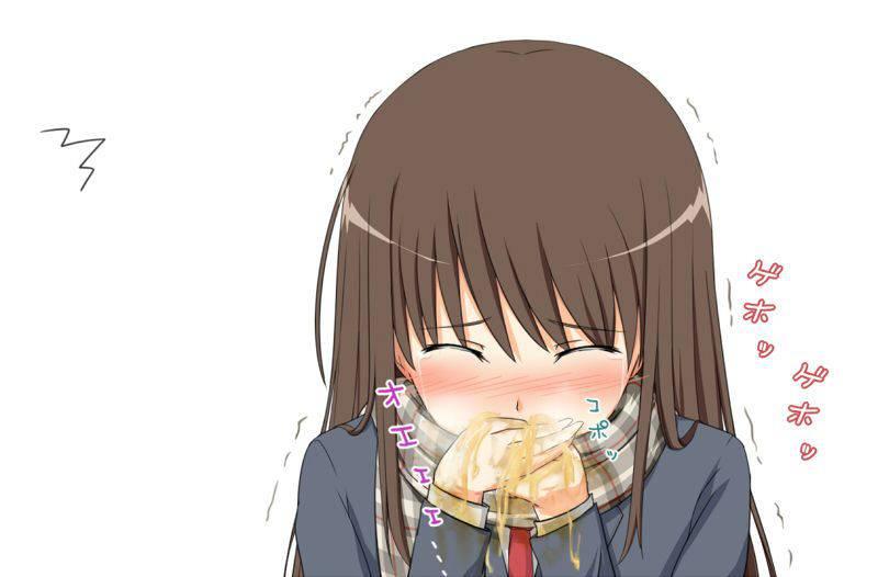 【もらいゲロしそう】嘔吐してる女の子の二次画像【6】