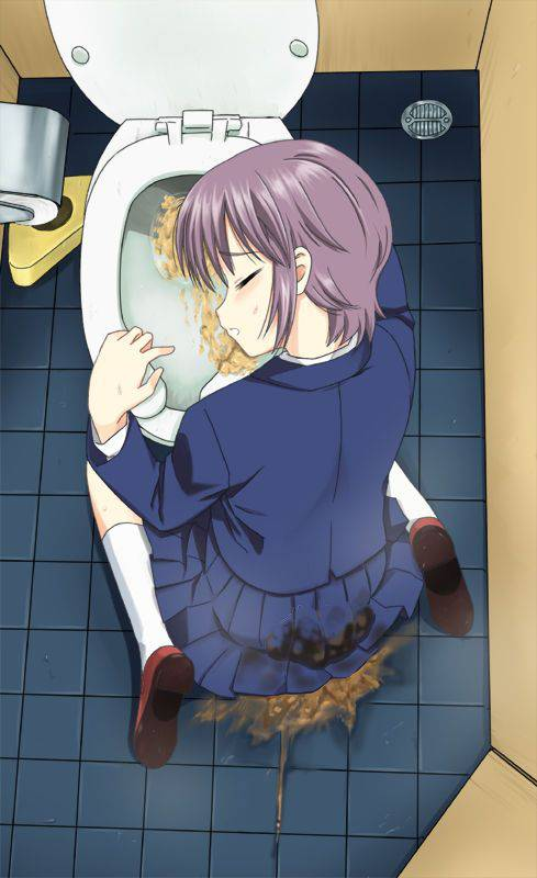 【もらいゲロしそう】嘔吐してる女の子の二次画像【10】