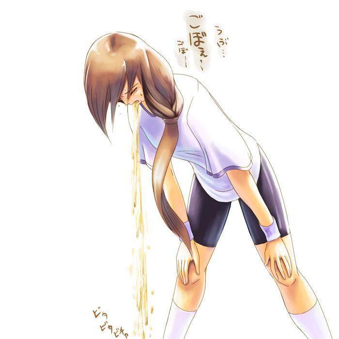 【もらいゲロしそう】嘔吐してる女の子の二次画像【12】