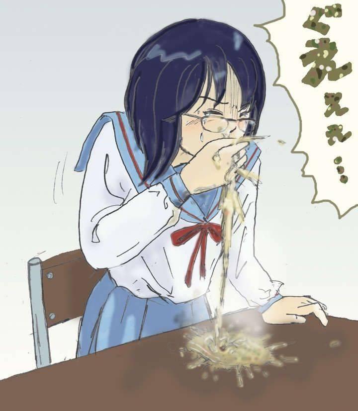 【もらいゲロしそう】嘔吐してる女の子の二次画像【22】