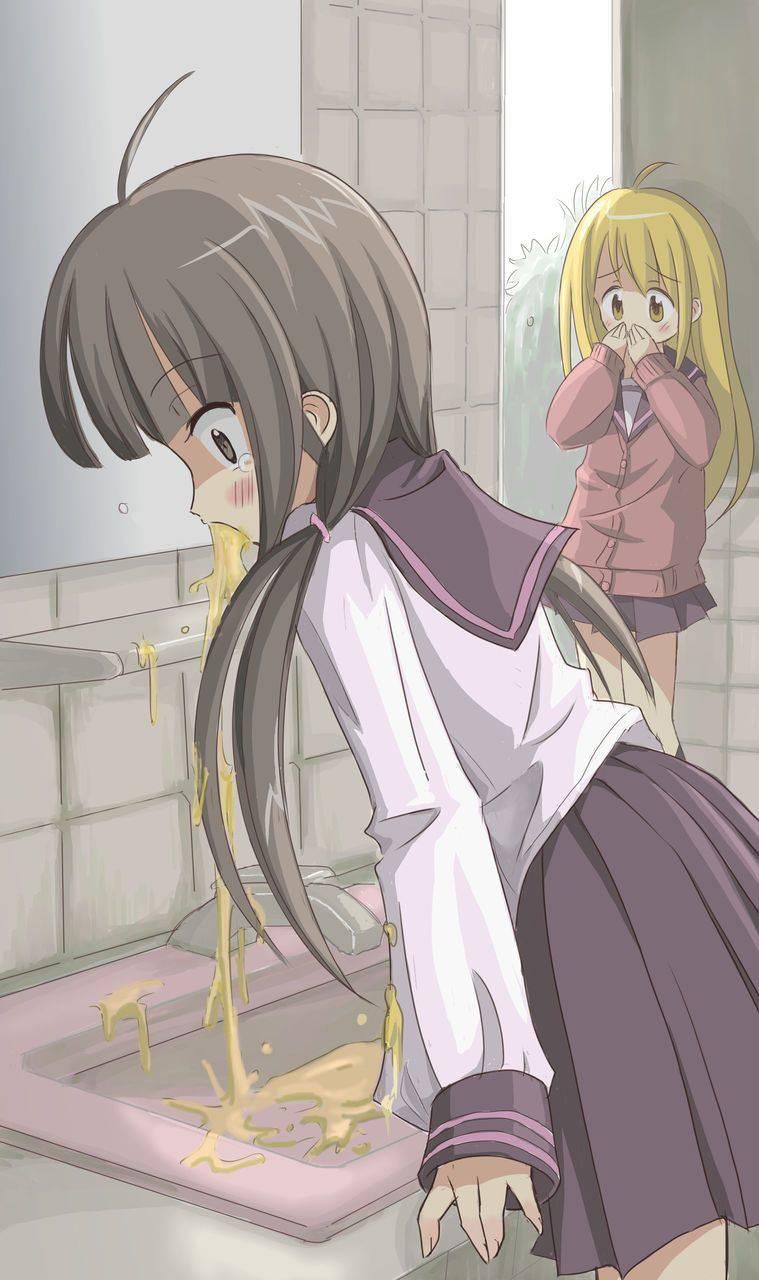 【もらいゲロしそう】嘔吐してる女の子の二次画像【28】