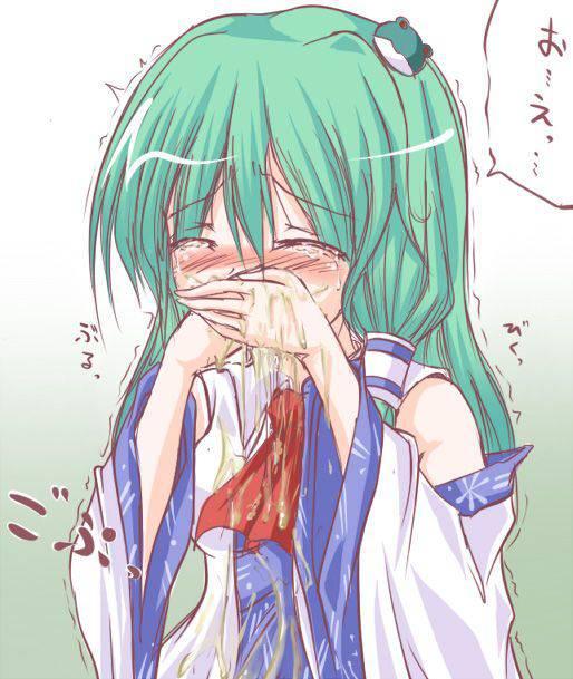 【もらいゲロしそう】嘔吐してる女の子の二次画像【29】