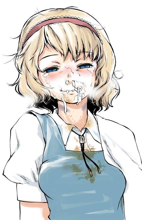【もらいゲロしそう】嘔吐してる女の子の二次画像【39】