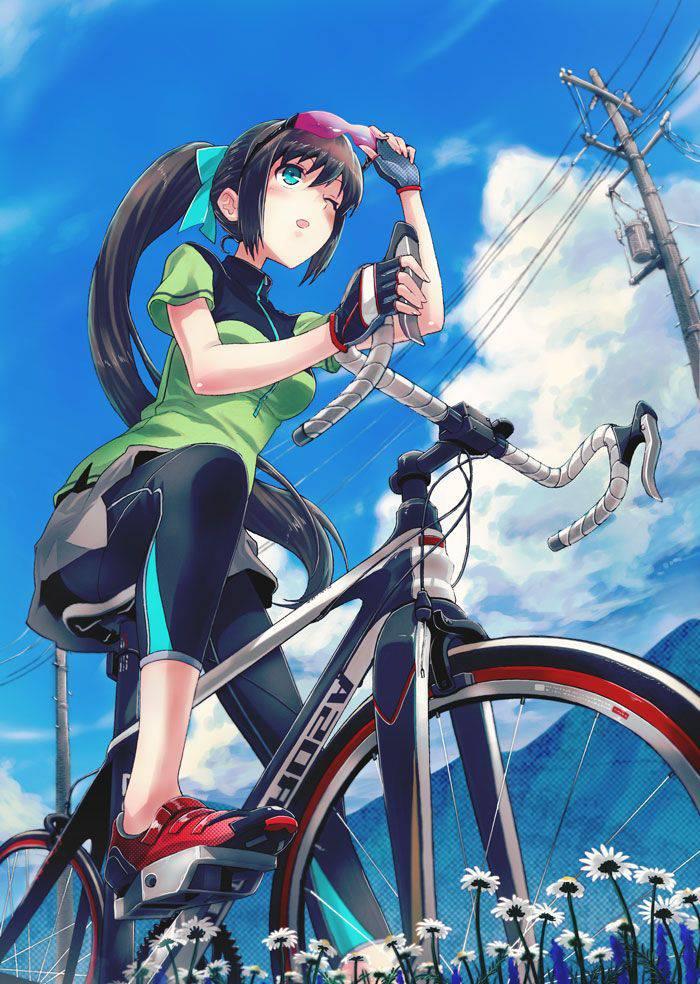 【ロードバイク】本格的な自転車に乗ってる女子達の二次画像【4】