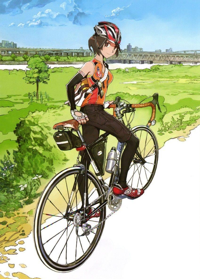 【ロードバイク】本格的な自転車に乗ってる女子達の二次画像【6】