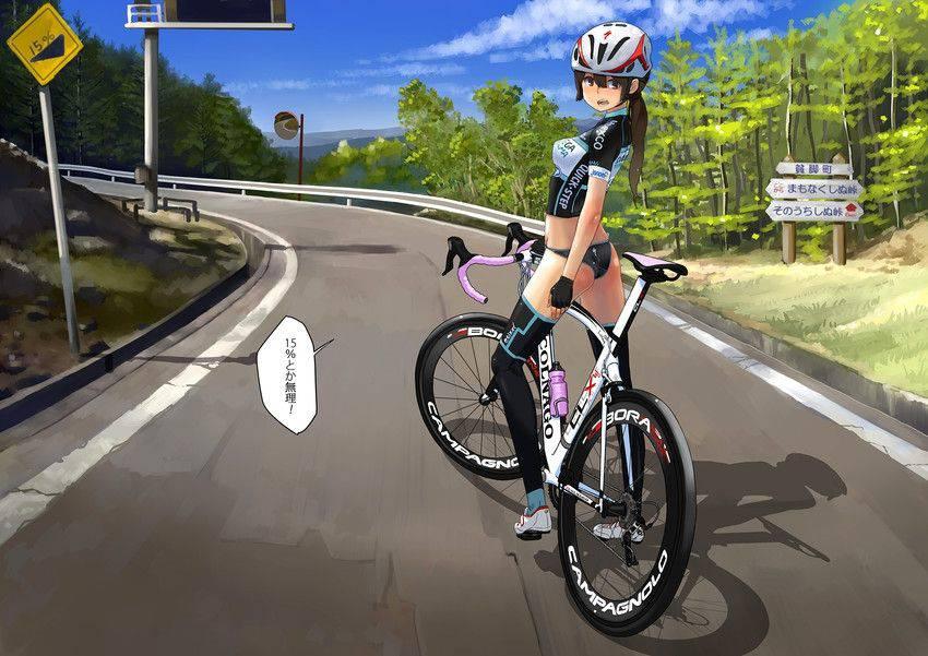 【ロードバイク】本格的な自転車に乗ってる女子達の二次画像【9】