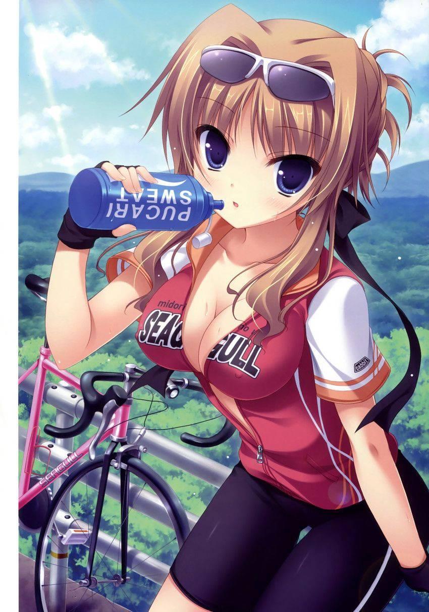 【ロードバイク】本格的な自転車に乗ってる女子達の二次画像【13】