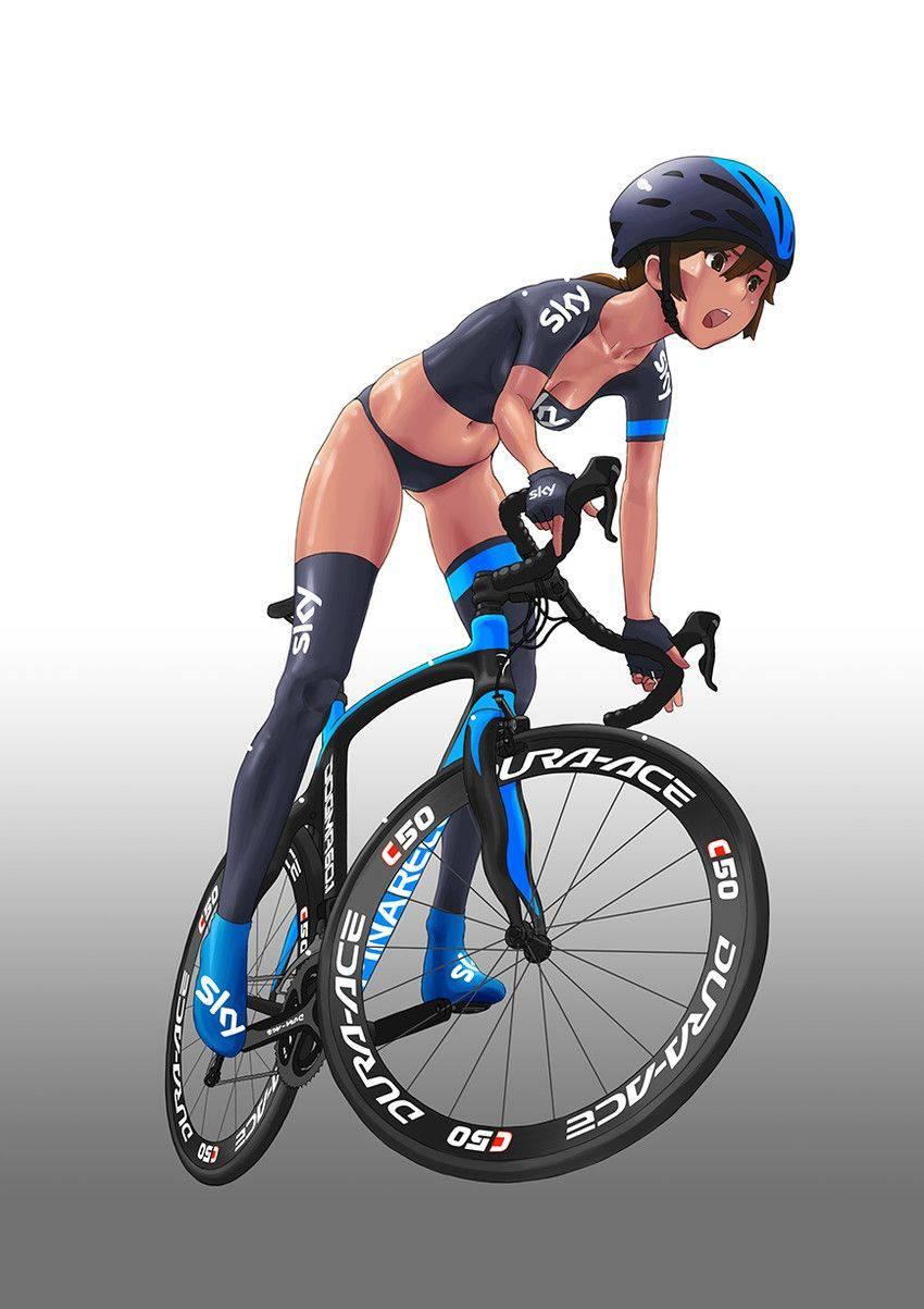【ロードバイク】本格的な自転車に乗ってる女子達の二次画像【15】