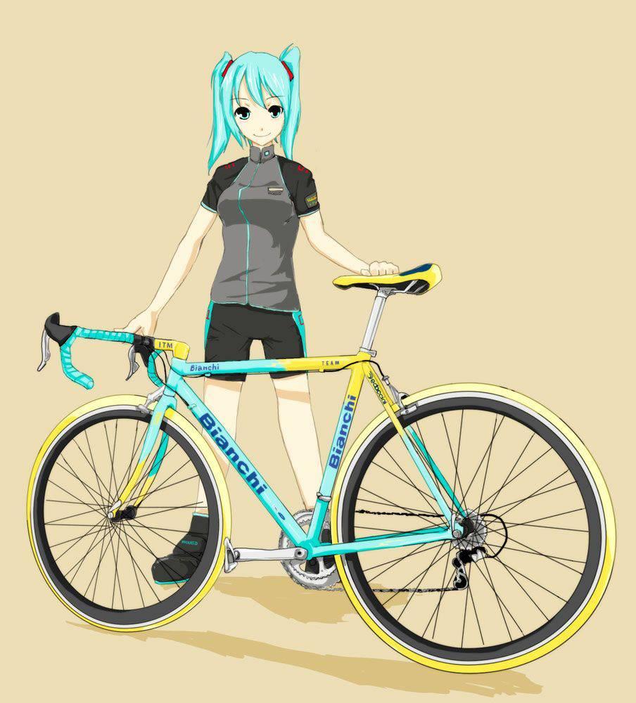 【ロードバイク】本格的な自転車に乗ってる女子達の二次画像【16】