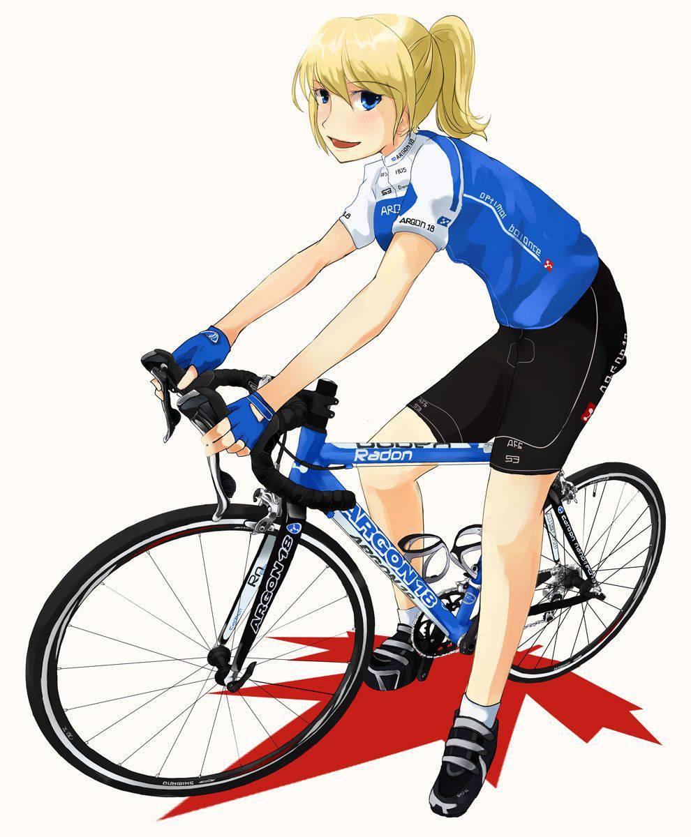 【ロードバイク】本格的な自転車に乗ってる女子達の二次画像【17】