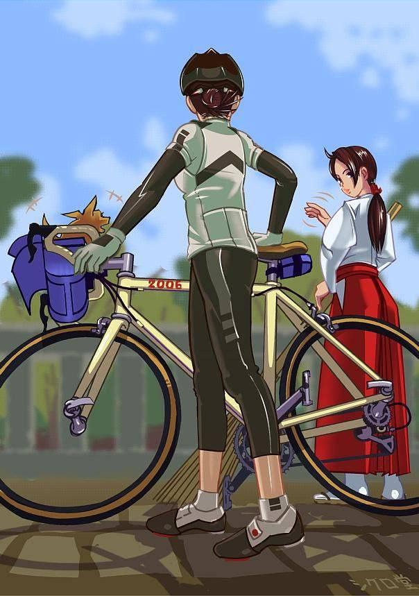 【ロードバイク】本格的な自転車に乗ってる女子達の二次画像【19】