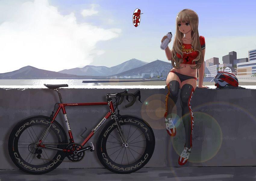 【ロードバイク】本格的な自転車に乗ってる女子達の二次画像【22】