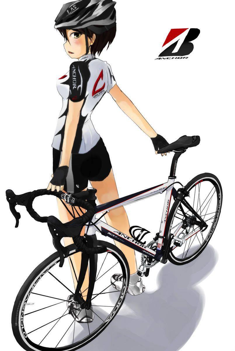 【ロードバイク】本格的な自転車に乗ってる女子達の二次画像【28】