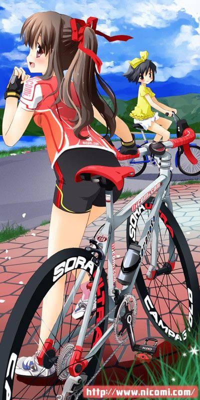 【ロードバイク】本格的な自転車に乗ってる女子達の二次画像【34】