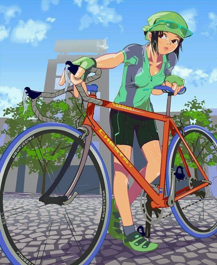 【ロードバイク】本格的な自転車に乗ってる女子達の二次画像【36】