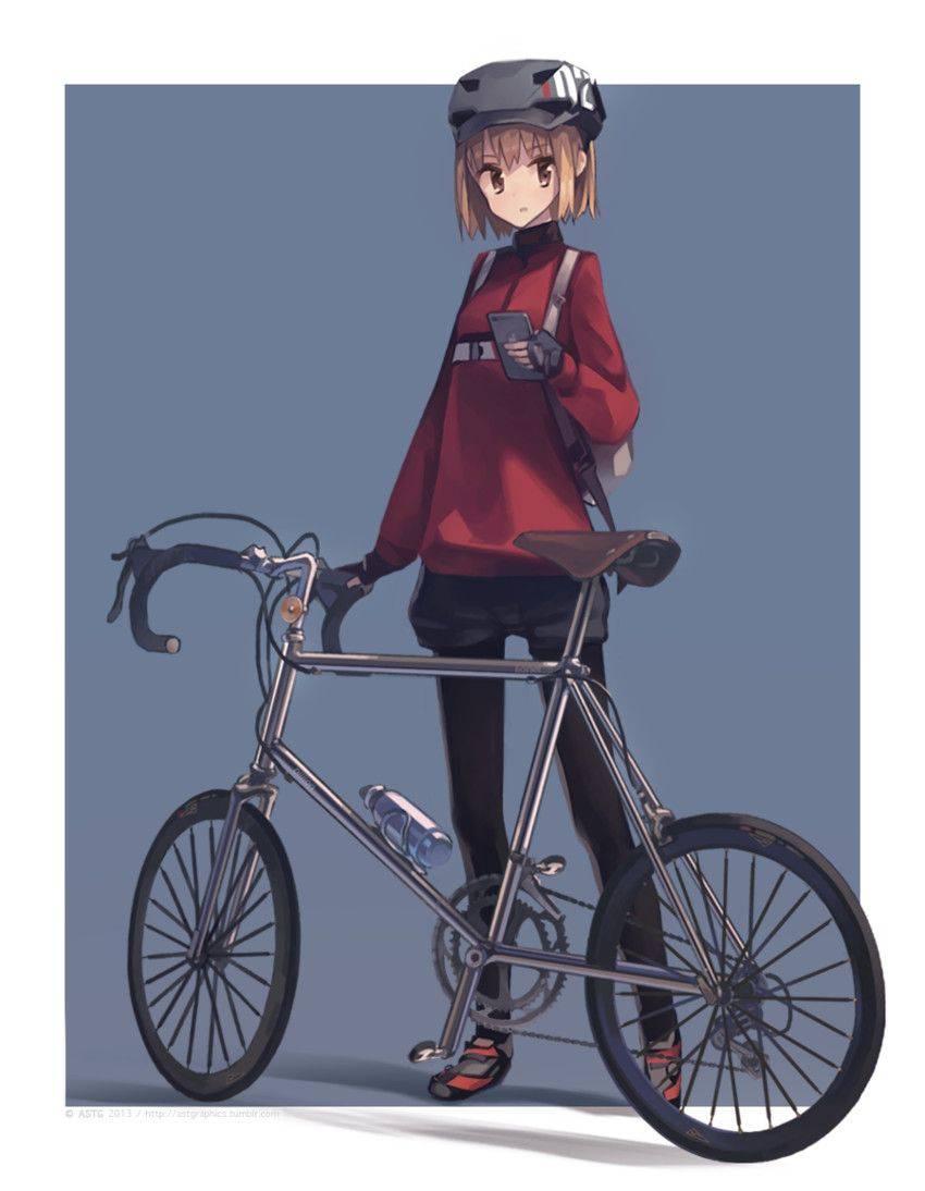 【ロードバイク】本格的な自転車に乗ってる女子達の二次画像【39】
