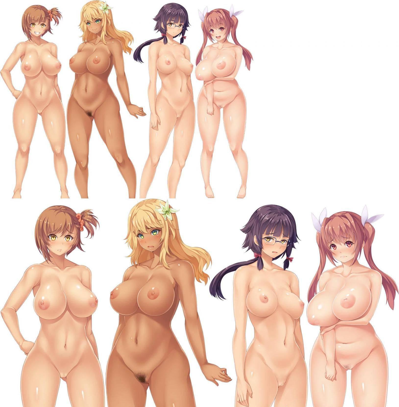 【どれにしようかな?】女の子達が全裸で立ってる二次エロ画像【1】