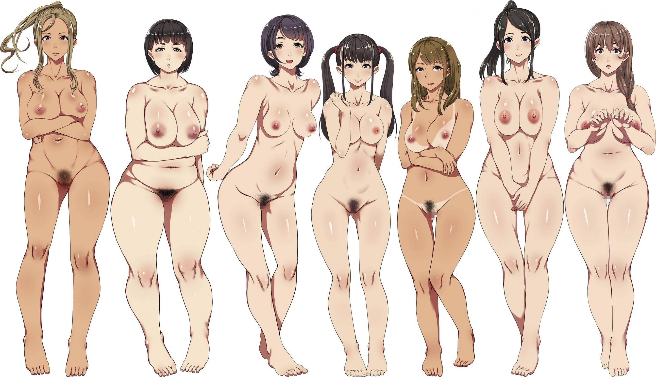 【どれにしようかな?】女の子達が全裸で立ってる二次エロ画像【2】