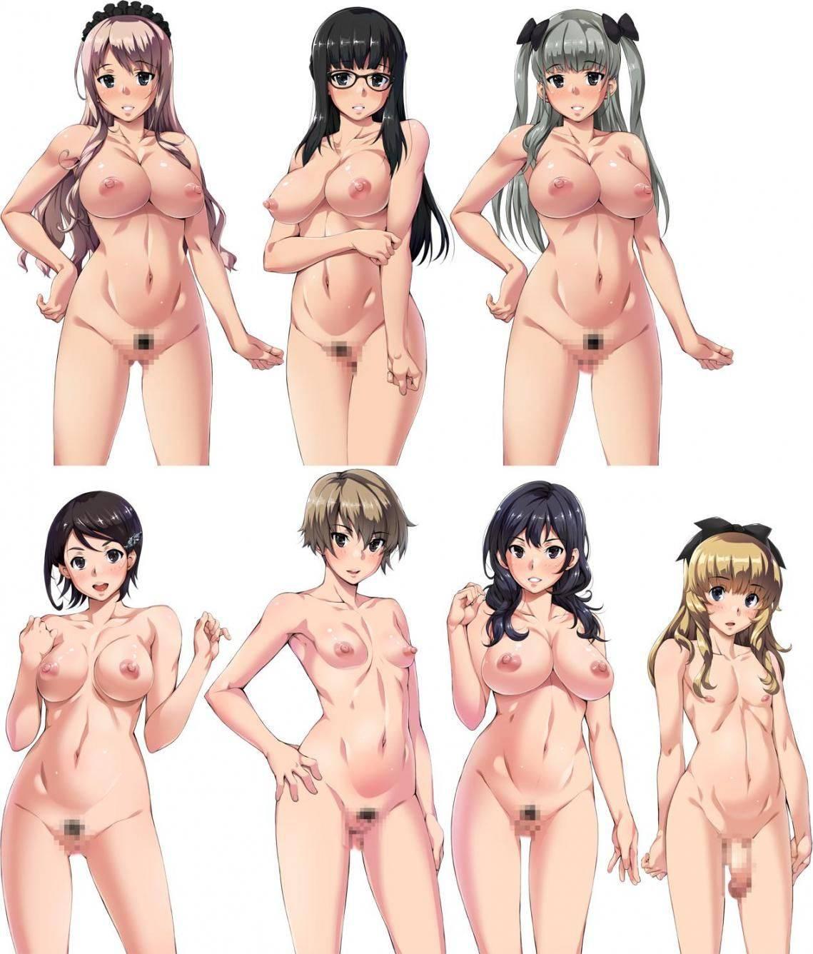 【どれにしようかな?】女の子達が全裸で立ってる二次エロ画像【6】