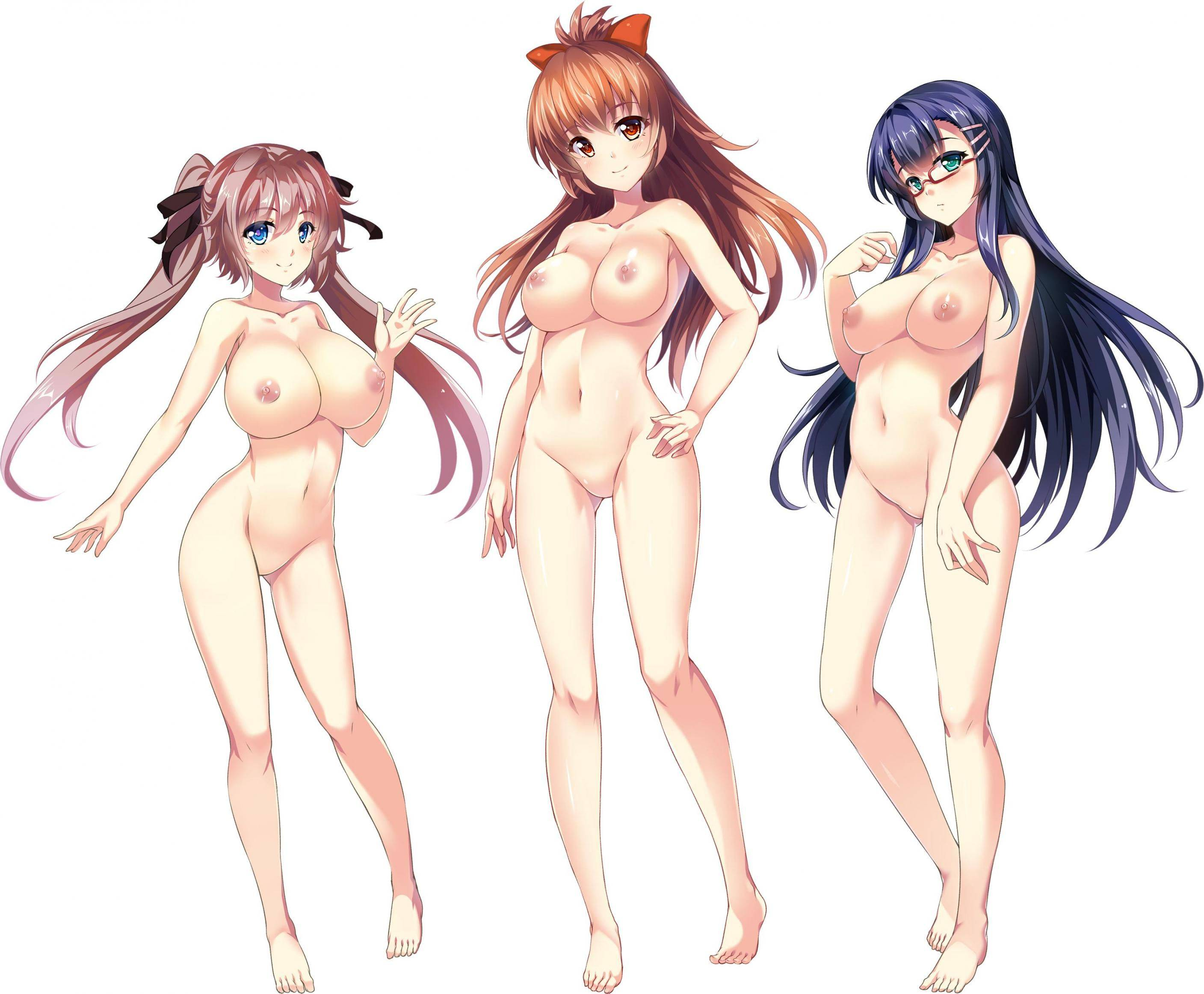 【どれにしようかな?】女の子達が全裸で立ってる二次エロ画像【9】