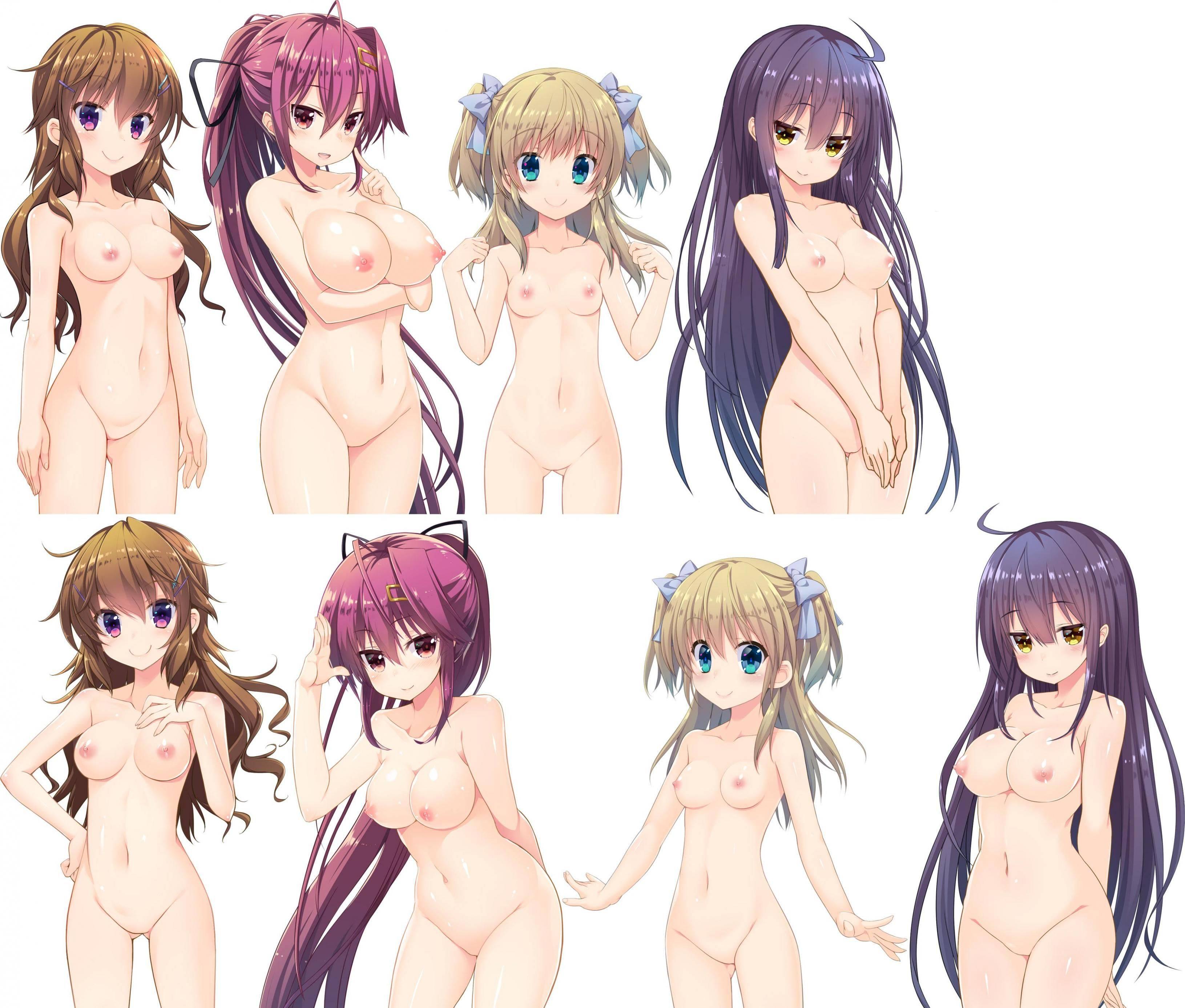【どれにしようかな?】女の子達が全裸で立ってる二次エロ画像【11】