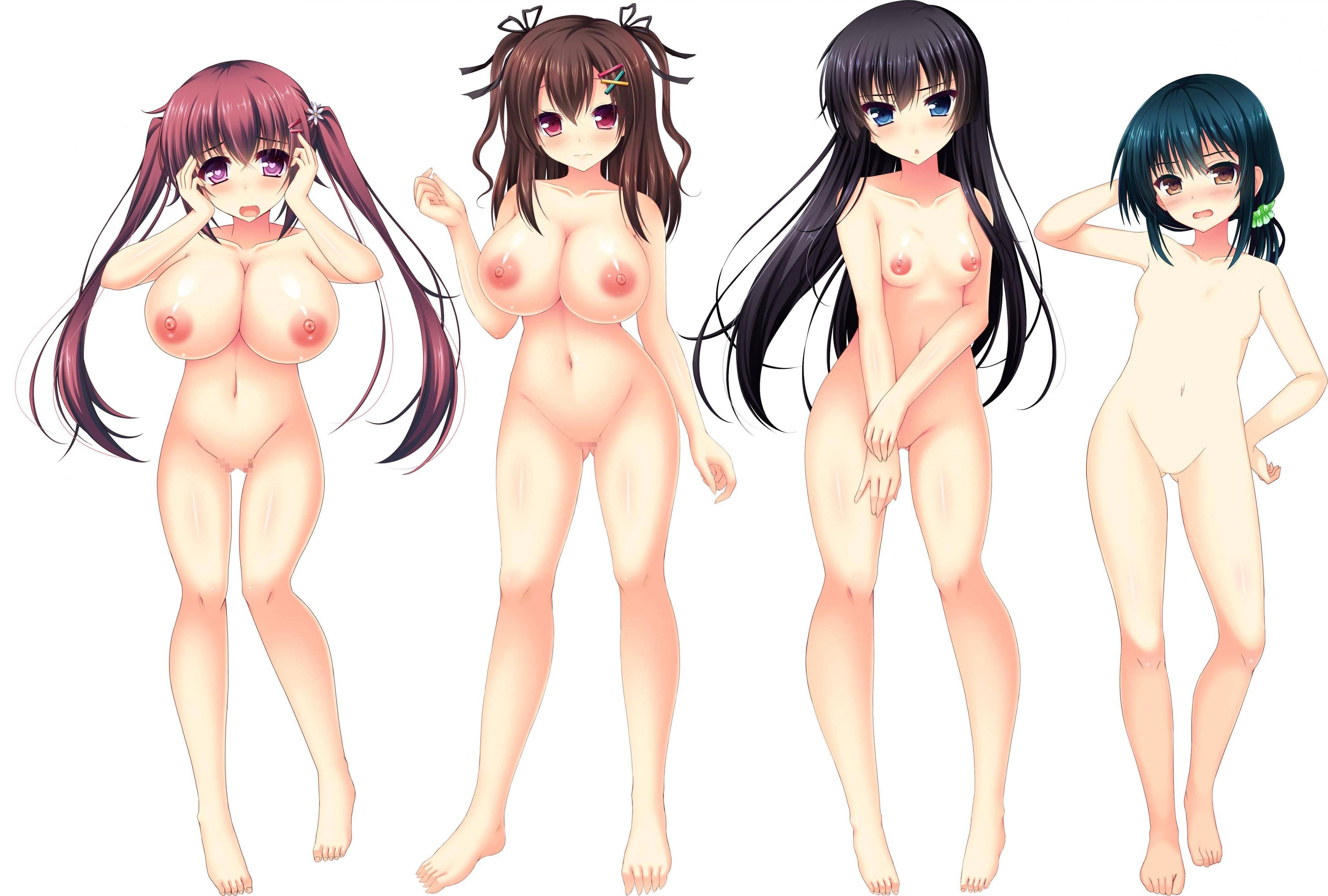 【どれにしようかな?】女の子達が全裸で立ってる二次エロ画像【12】