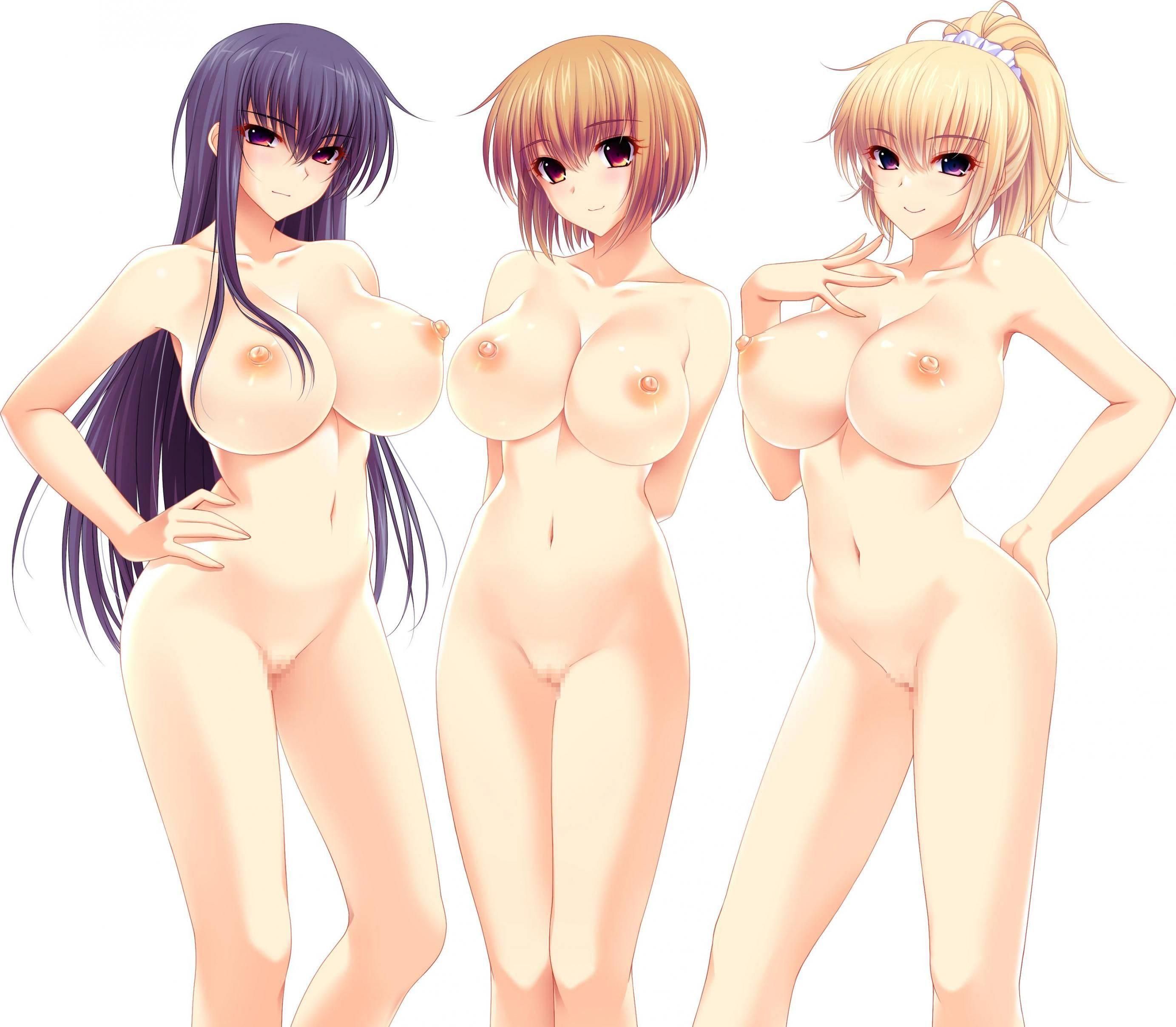 【どれにしようかな?】女の子達が全裸で立ってる二次エロ画像【13】
