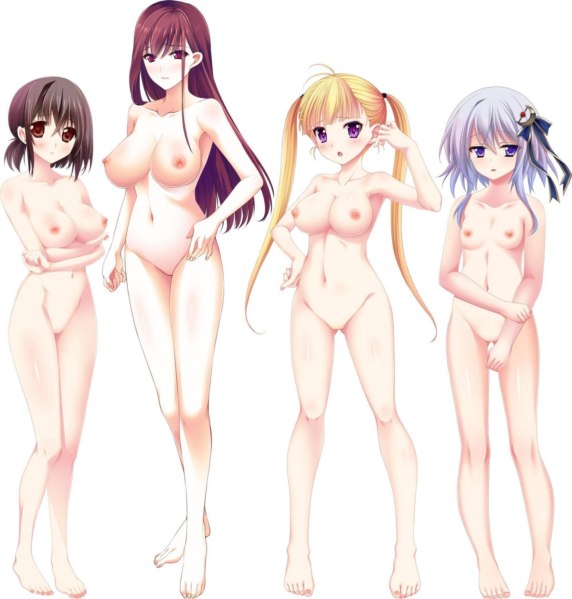 【どれにしようかな?】女の子達が全裸で立ってる二次エロ画像【14】