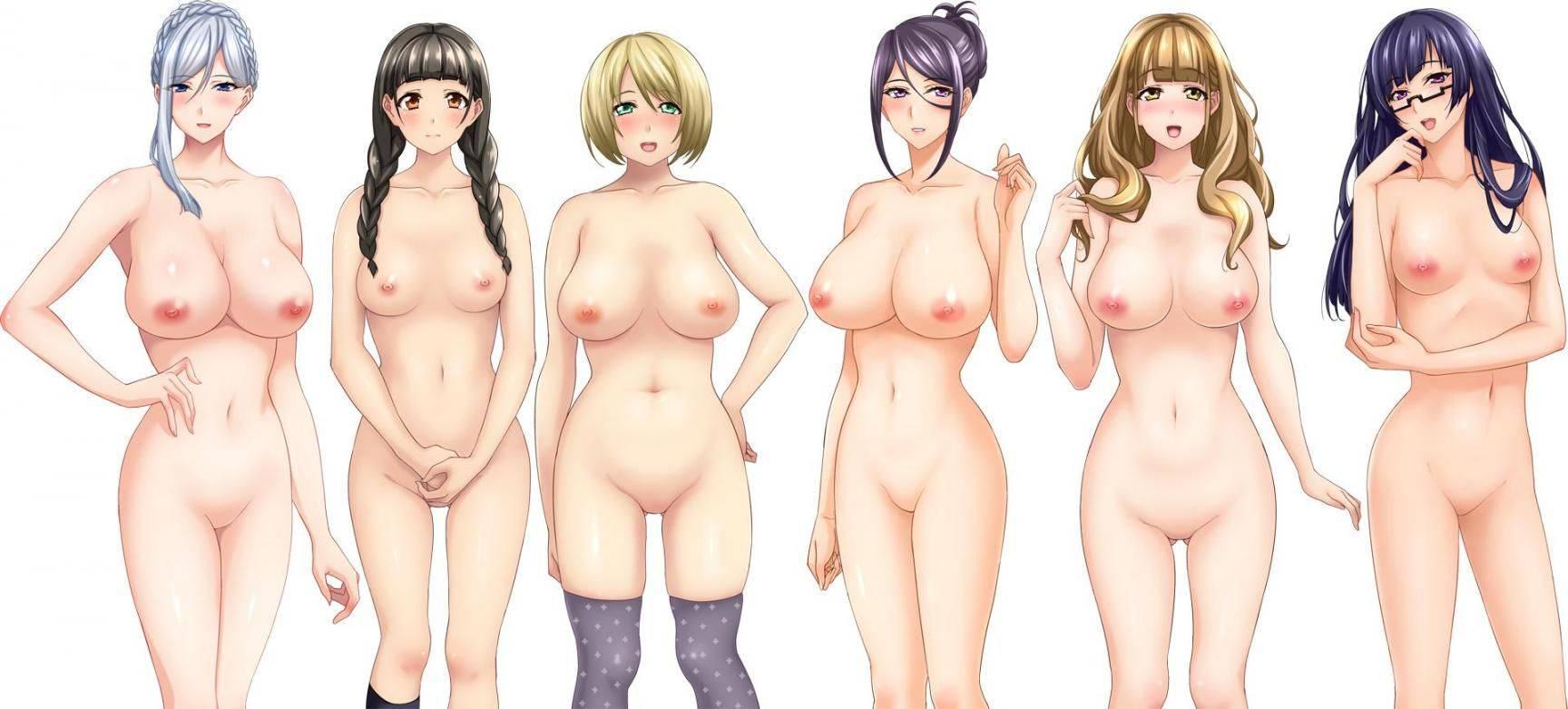 【どれにしようかな?】女の子達が全裸で立ってる二次エロ画像【15】