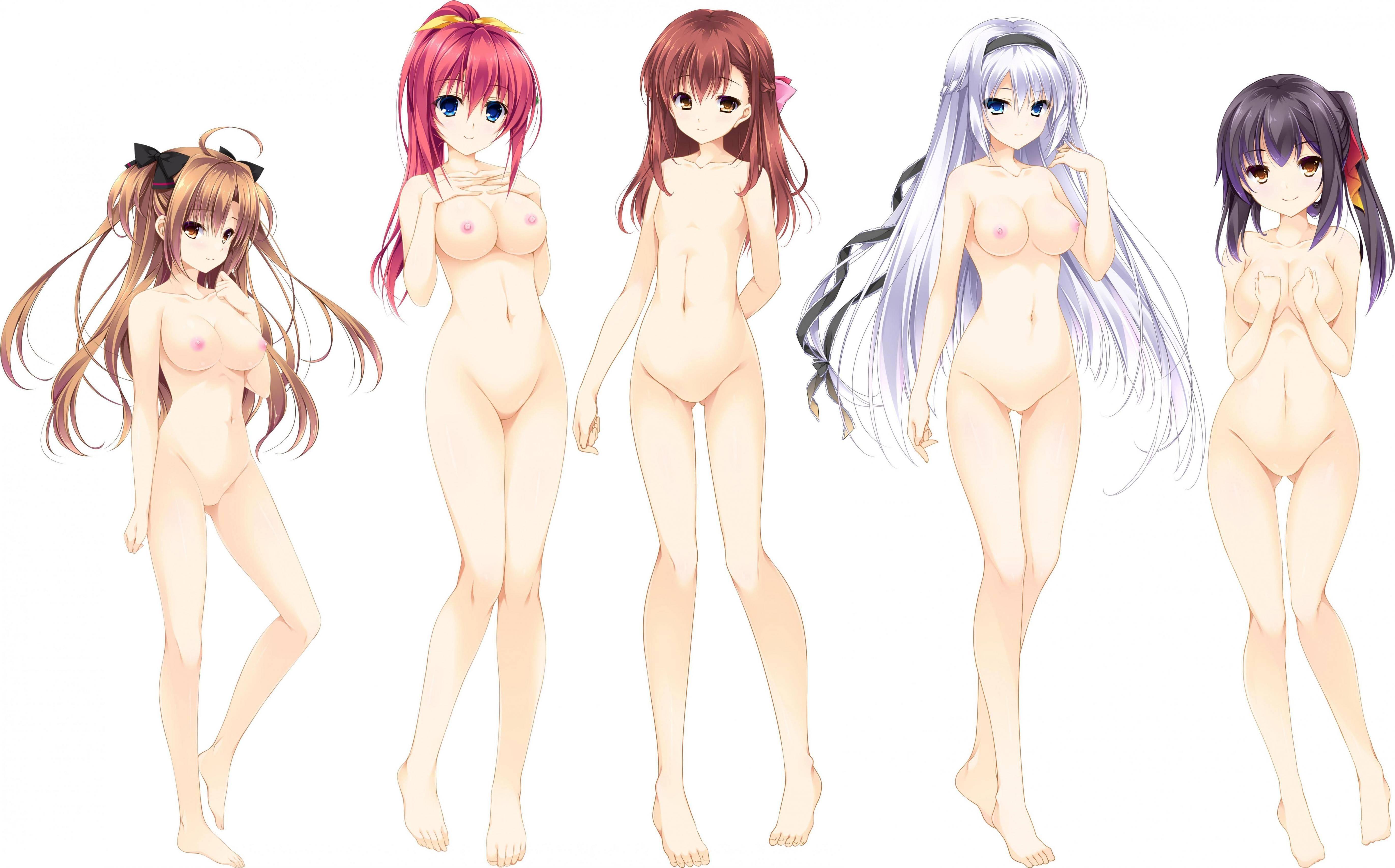 【どれにしようかな?】女の子達が全裸で立ってる二次エロ画像【17】