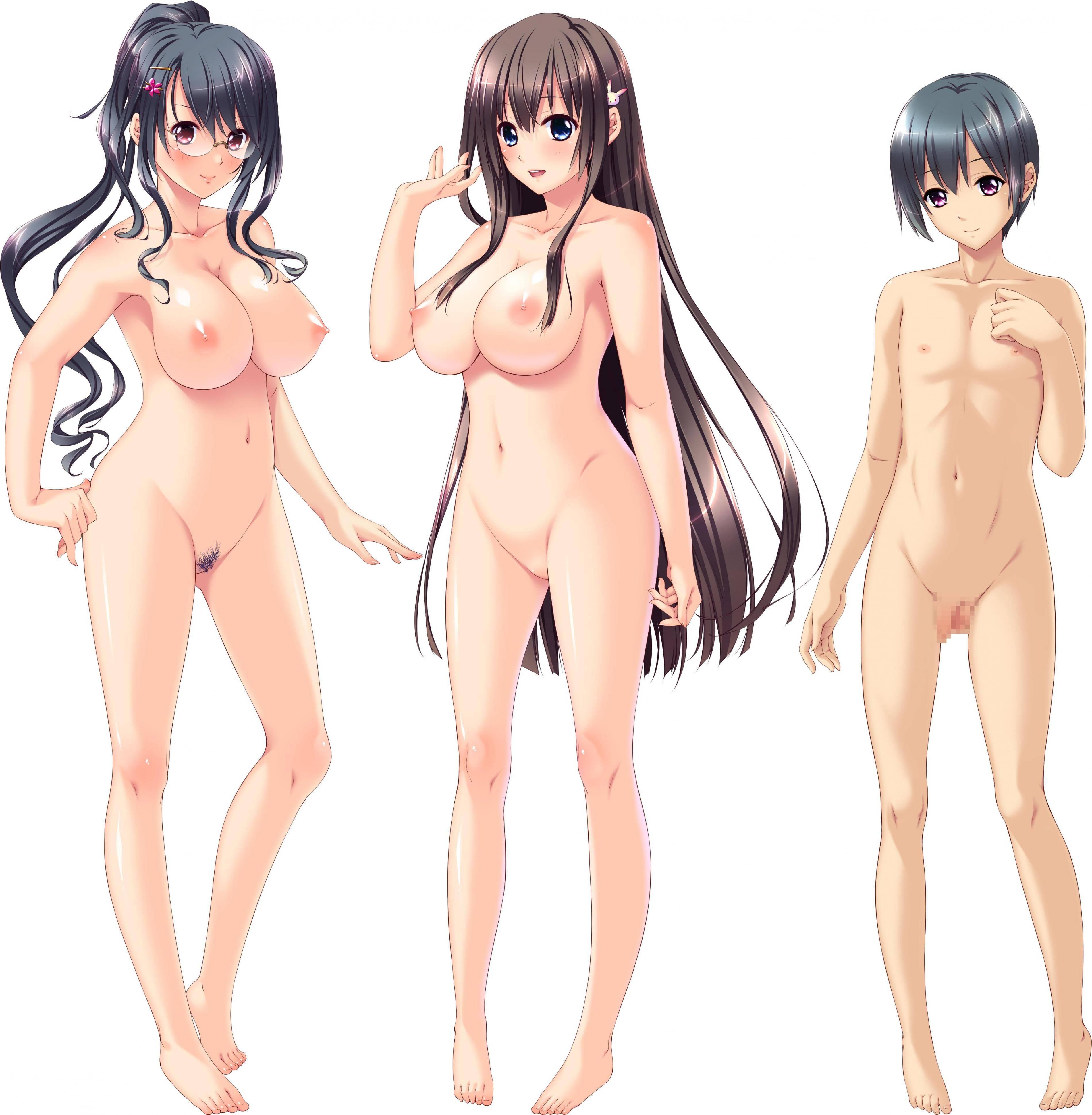 【どれにしようかな?】女の子達が全裸で立ってる二次エロ画像【19】