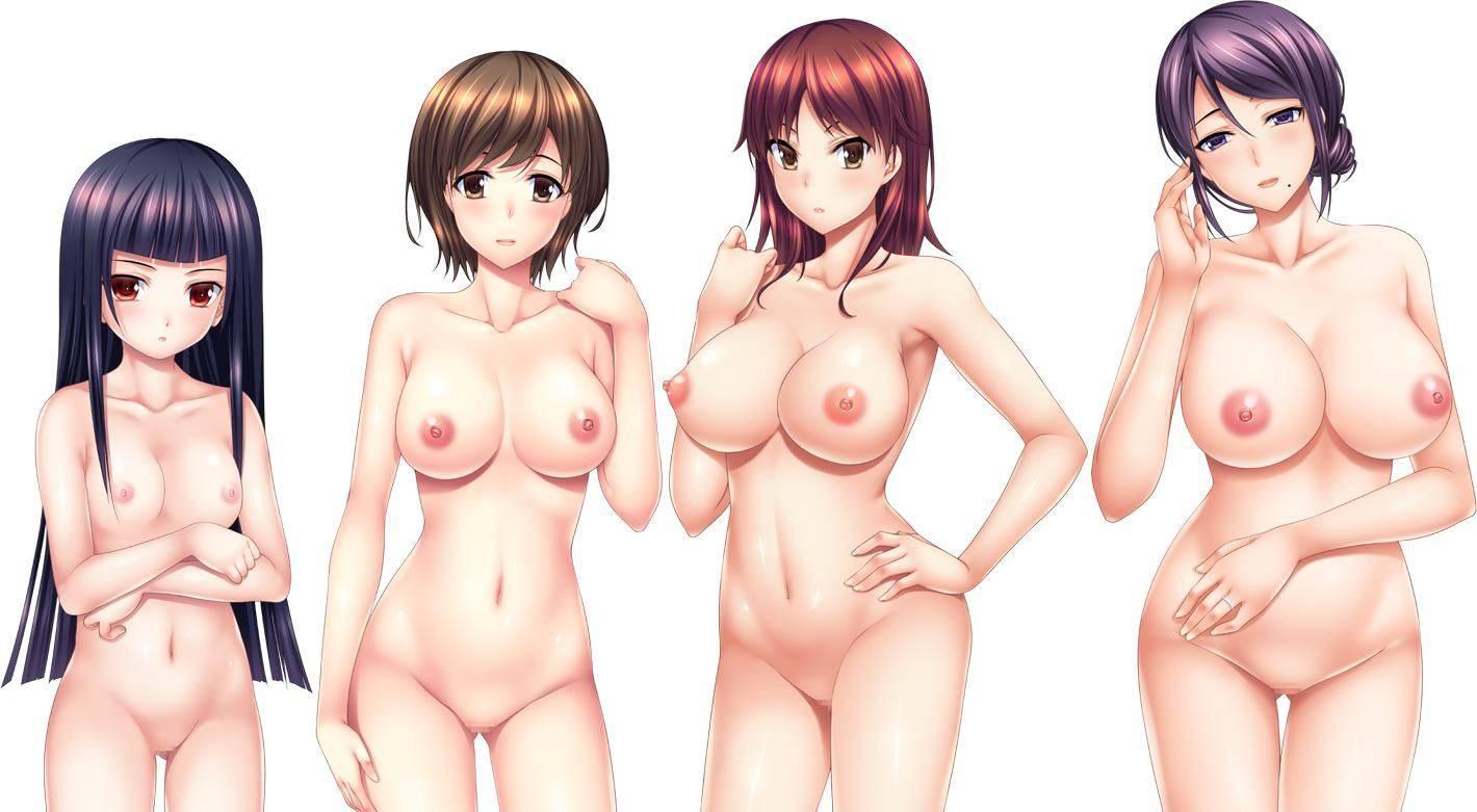 【どれにしようかな?】女の子達が全裸で立ってる二次エロ画像【36】