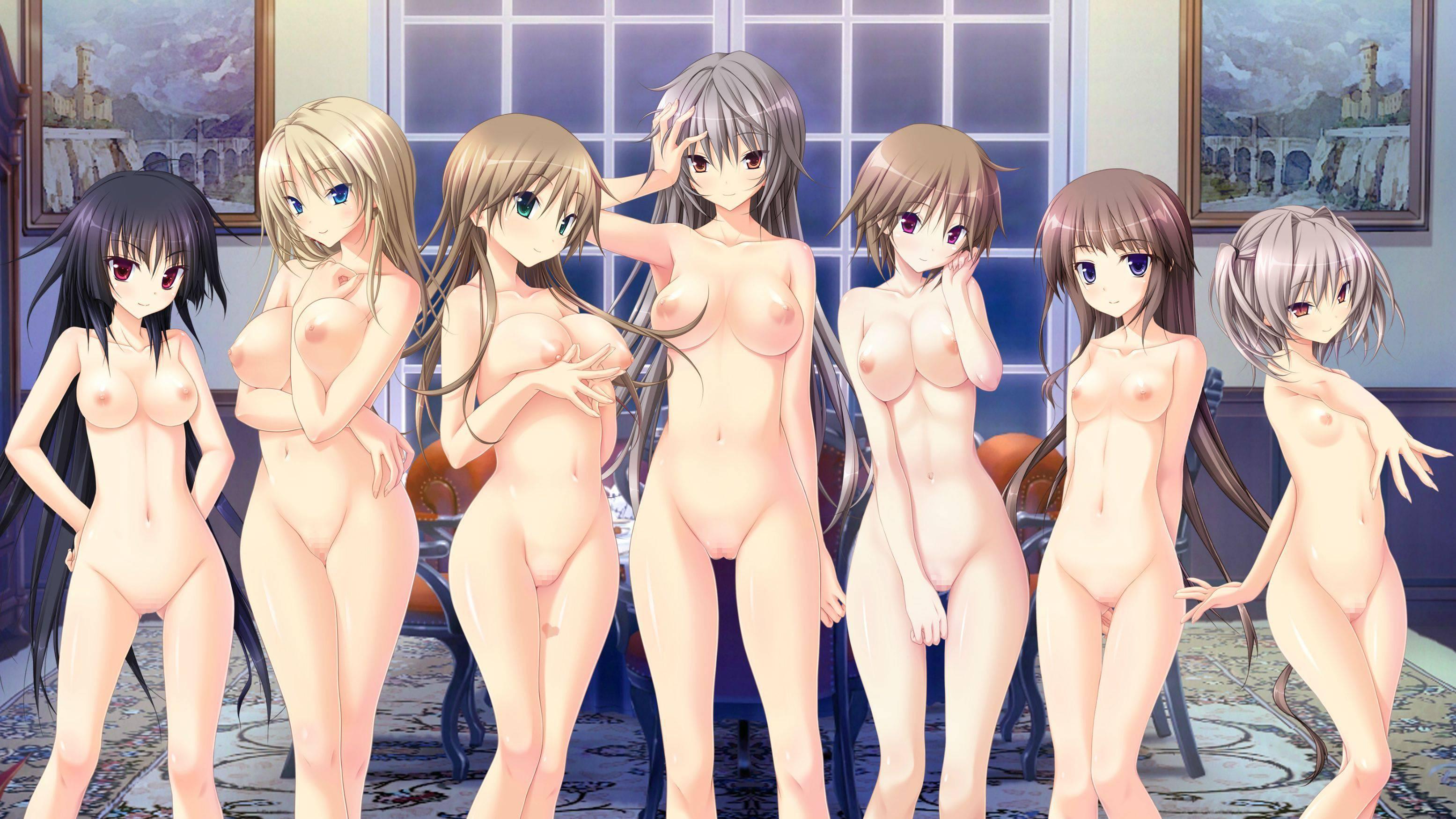 【どれにしようかな?】女の子達が全裸で立ってる二次エロ画像【39】