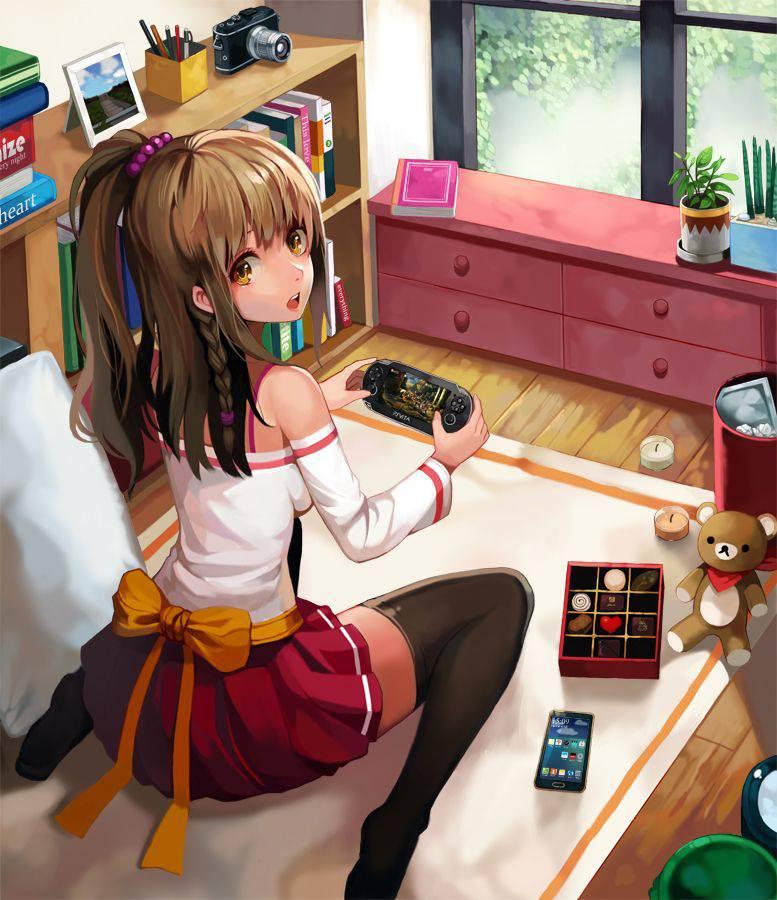 【携帯機編】ゲームで遊ぶ女子達の二次画像【38】