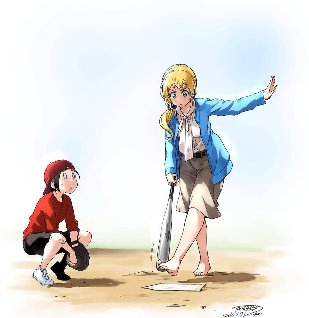 【棒を握ったり】野球・ソフトボールをやってる女の子のエロ画像【玉を掴んだり】【7】