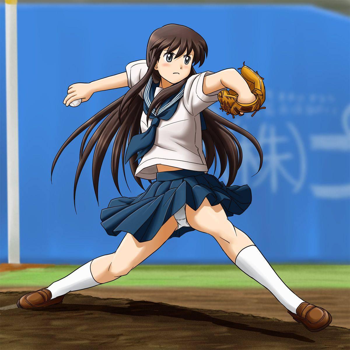 【棒を握ったり】野球・ソフトボールをやってる女の子のエロ画像【玉を掴んだり】【28】