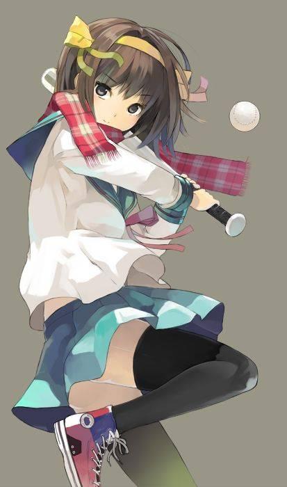 【棒を握ったり】野球・ソフトボールをやってる女の子のエロ画像【玉を掴んだり】【31】