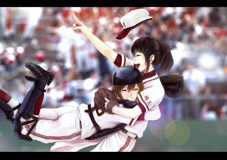 【棒を握ったり】野球・ソフトボールをやってる女の子のエロ画像【玉を掴んだり】【34】