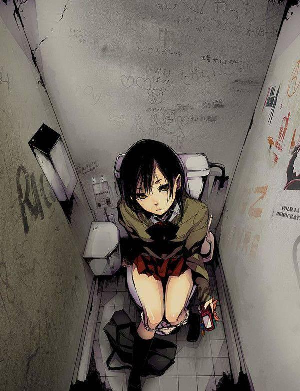 【大かな?小かな?】洋式便器だから想像が膨らむトイレの二次エロ画像【35】