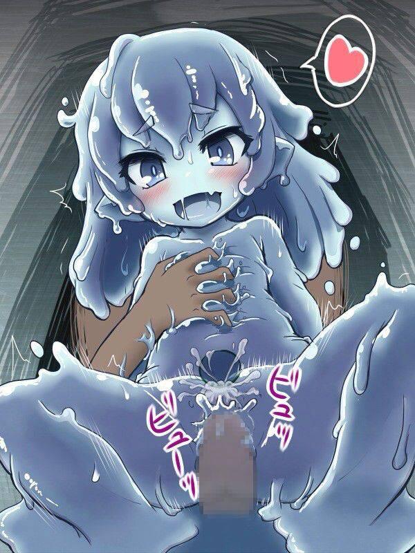 【軟体生物】青いスライム娘の二次エロ画像【4】