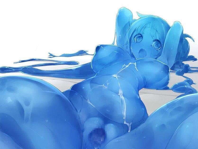 【軟体生物】青いスライム娘の二次エロ画像【8】