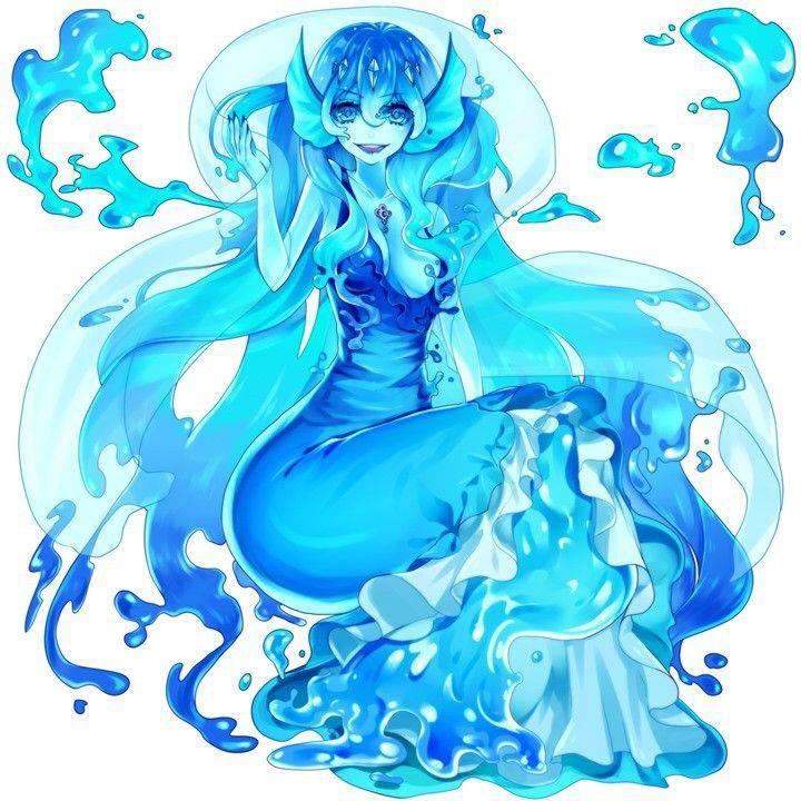 【軟体生物】青いスライム娘の二次エロ画像【15】