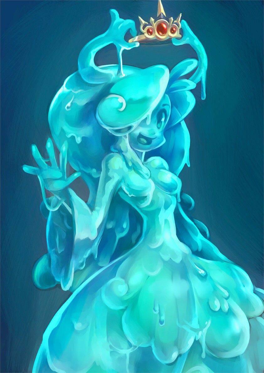 【軟体生物】青いスライム娘の二次エロ画像【25】