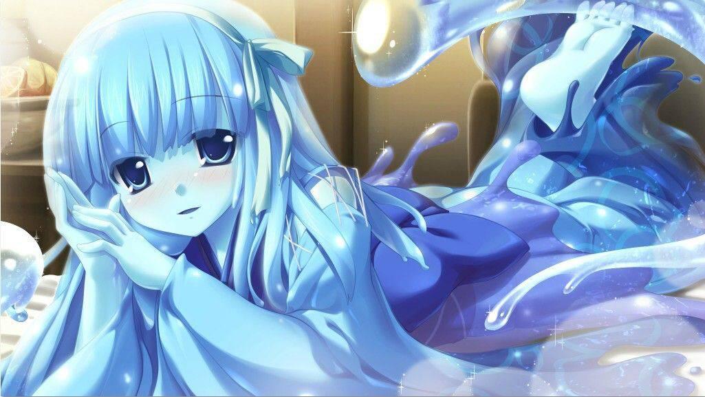【軟体生物】青いスライム娘の二次エロ画像【39】