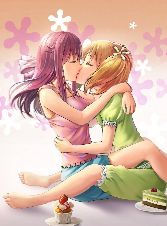 【ペッティング】女の子同士で濃厚なキスをしている二次エロ画像【34】