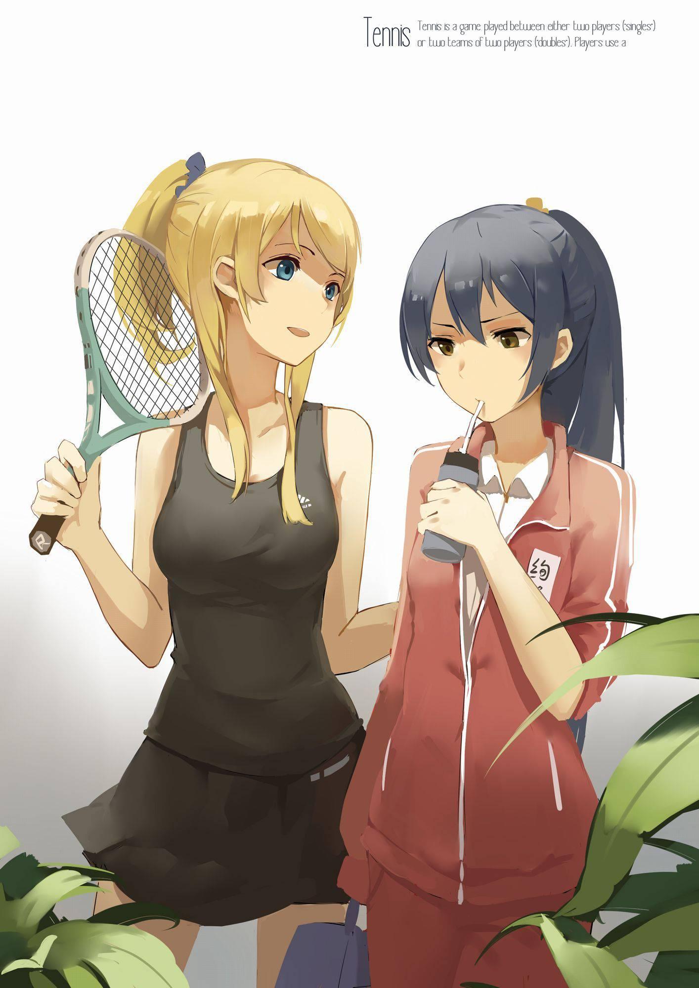 【渡米!H前!】テニス部所属な女子達の二次画像【6】