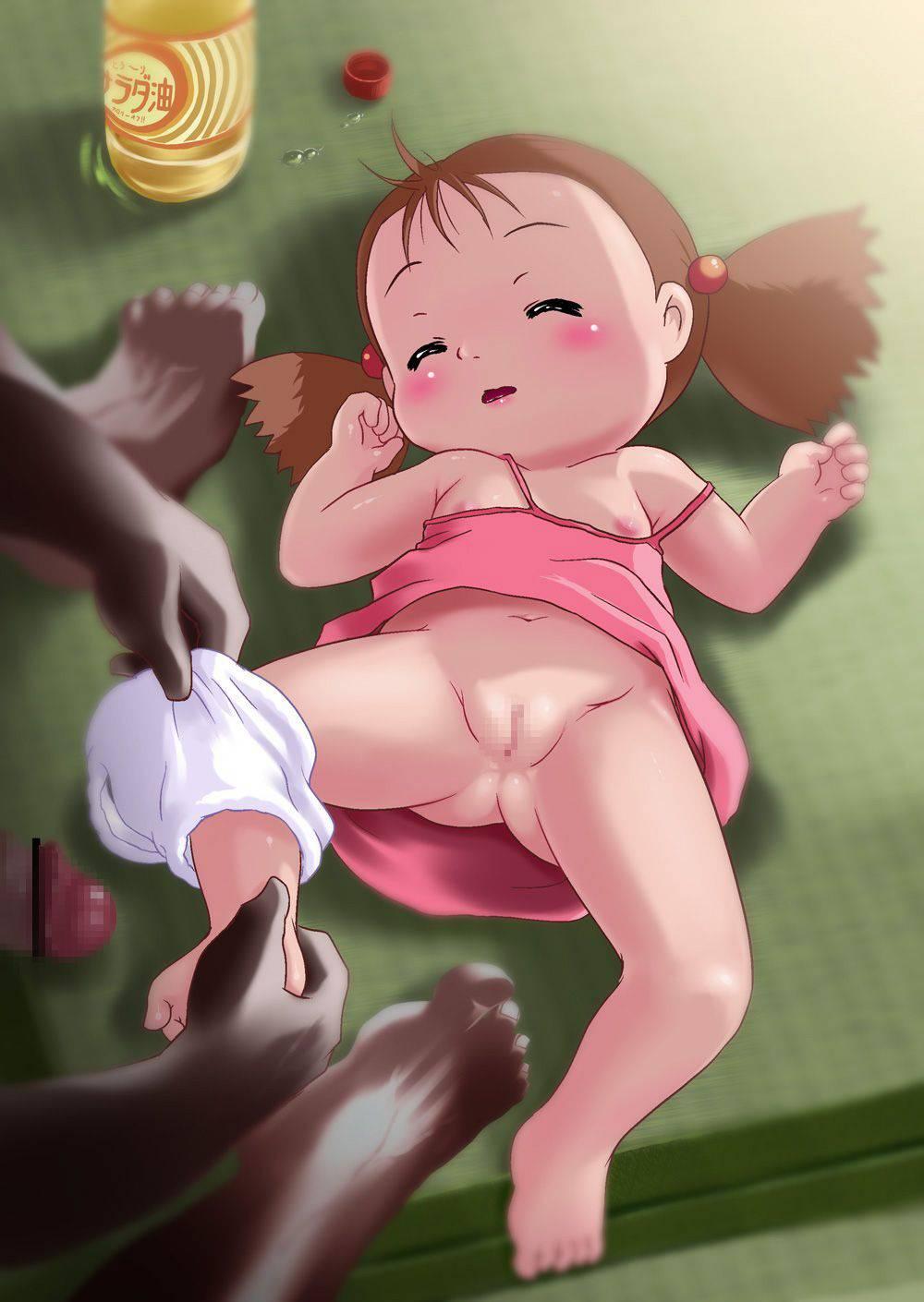 【まじかよ・・・】幼稚園児位の子を犯してるアブない二次ロリ画像【35】